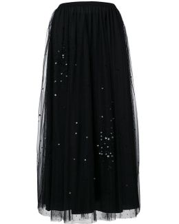 Tulle Skirt With Attached Stars