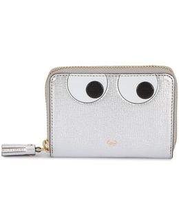 Small Eyes Zip-around Wallet