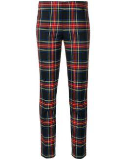 Tartan Slim-fit Trousers
