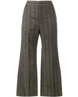 Keroan Flared Cropped Trousers