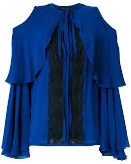 Cold Shoulder Lace Insert Blouse