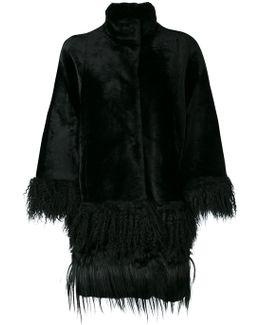 Fringed Cape-style Coat