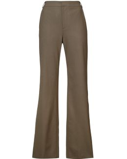 Pearl-look Button Trousers