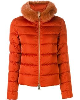 Furry Trim Puffer Jacket