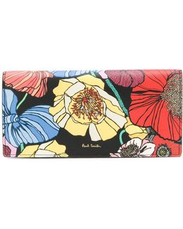 Floral Print Foldover Purse