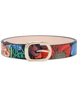 Floral Print Belt