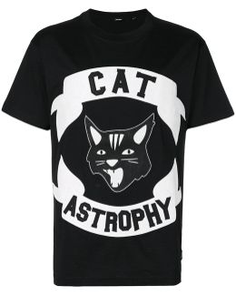 Cat Astrophy Appliqué T-shirt