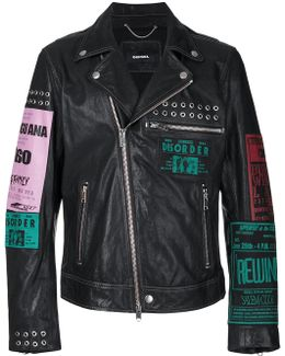 Multi-patches Biker Jacket