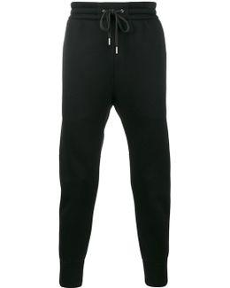 Black Track Pants With Drawstring Waist