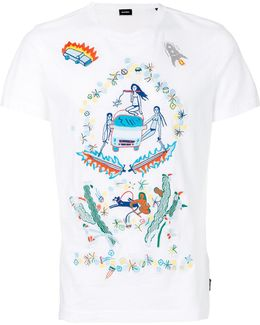 Illustrated Print T-shirt