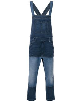 Patched Denim Dungarees