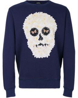 Daisy Skull Sweatshirt