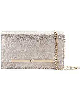 Metallic Twist-lock Clutch Bag