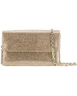 Glittered Foldover Clutch Bag