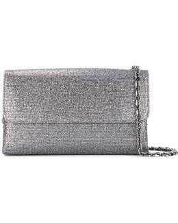 Foldover Glittered Clutch Bag