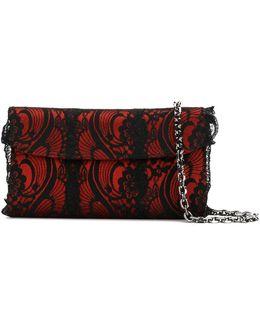 Foldover Lace Clutch Bag