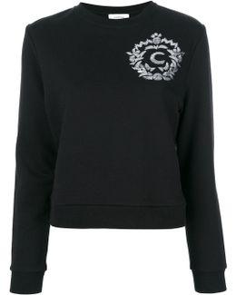 Sequin Appliqué Sweatshirt