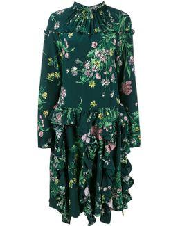 Floral Print Gathered Dress