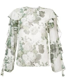 Floral Frill Blouse