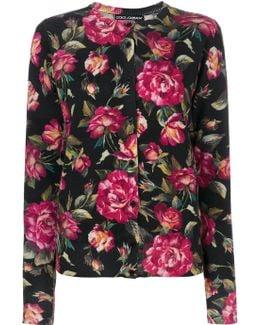 Cashmere Rose Print Cardigan