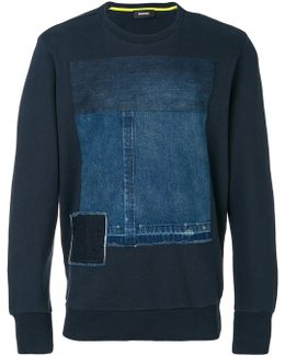 Denim Patch Sweatshirt