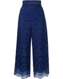 Broderie Anglaise Cropped Trousers