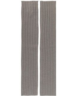 Ribbed Knit Arm Warmers
