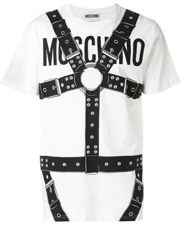 Logo And Harness Print T-shirt
