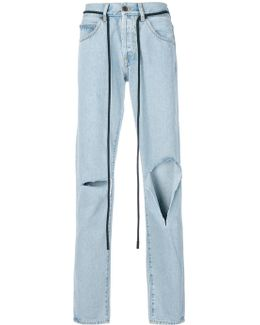 Diag Raw Cut Jeans