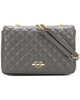 Double-chains Quilted Shoulder Bag