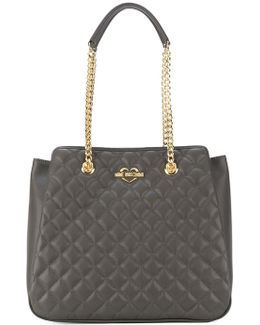 Double-chain Quilted Shoulder Bag