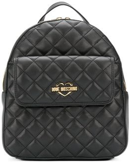Front Flap Quilted Backpack