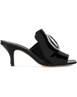 Galaxy Buckle Patent Leather Sandals