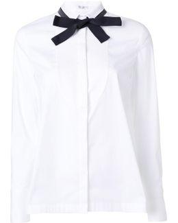 Tied Narrow Collar Shirt