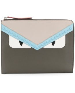 Monster Eyes Studded Clutch