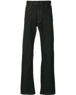 Stitch Detail Bootcut Jeans