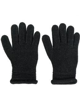 Embellished Logo Gloves