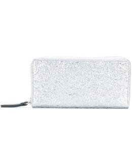 Embroidered Zip Wallet