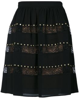 Studded Lace Skirt