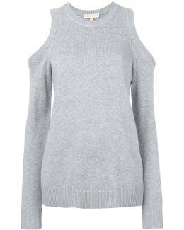Cold-shoulder Knitted Top