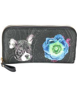Pug Floral Printed Wallet