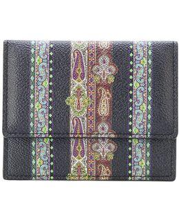 Embroidered Bi-fold Wallet