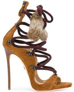 Fur Tassle Sandals