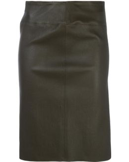 Fitted Leather Skirt