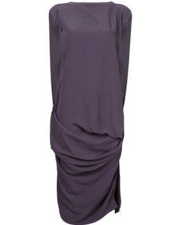Woven Nouveau Draped Dress