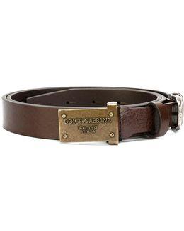 Plate Buckled Belt