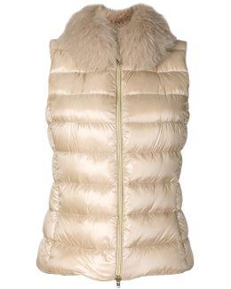 Fox Fur Trim Gilet