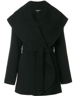 Sailor Collar Belted Coat