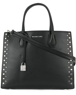 Stud Lined Boxy Tote