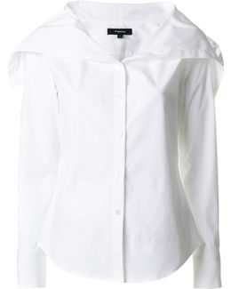 Oversized Collar Classic Shirt